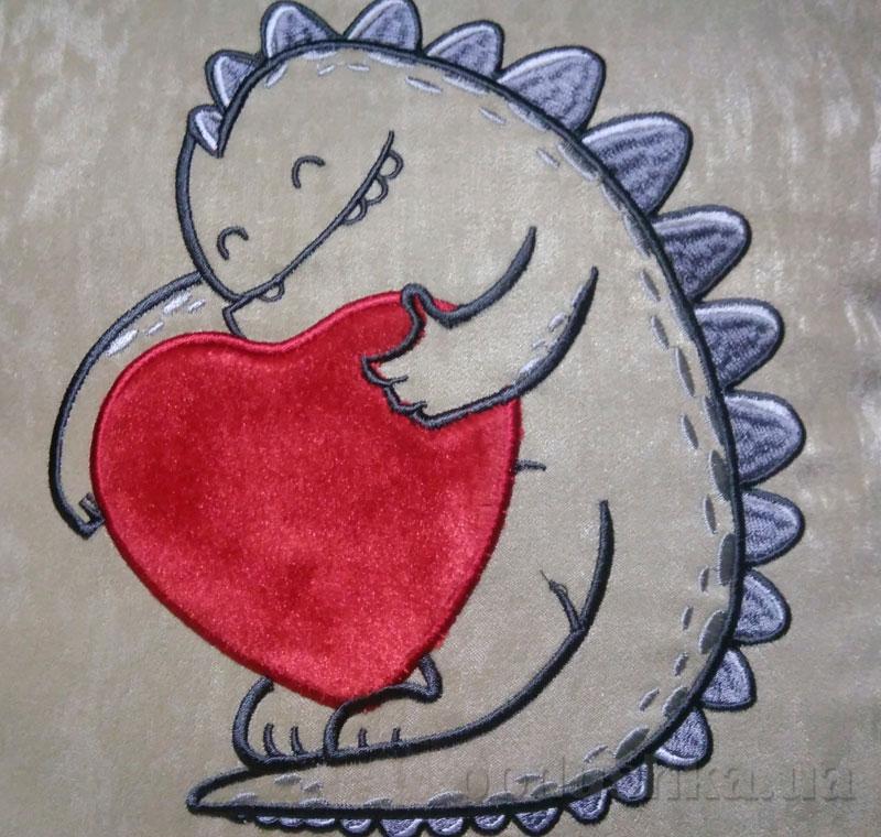 Подушка с декоративной вышивкой Влюбленный звереныш 40х40 см подушка+наволочка Украина