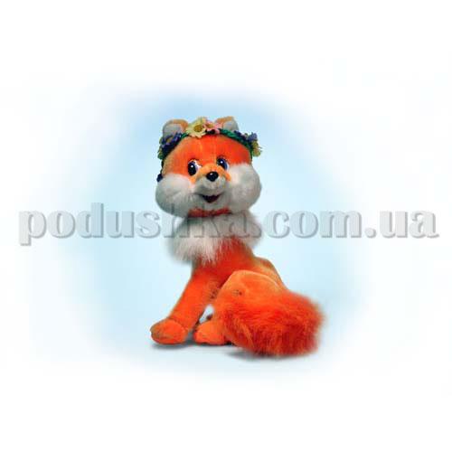 Мягкая игрушка - ЛИСА С ВЕНОЧКОМ (муз., 23 см)