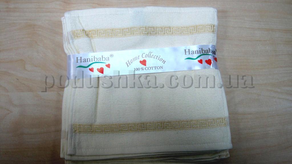 Махровое кухонное полотенце Hanibaba Грек кремовое