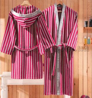 Халат махровый кимоно BHPC 502 красный