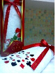 Набор махровых полотенец Валентин ( в коробке)