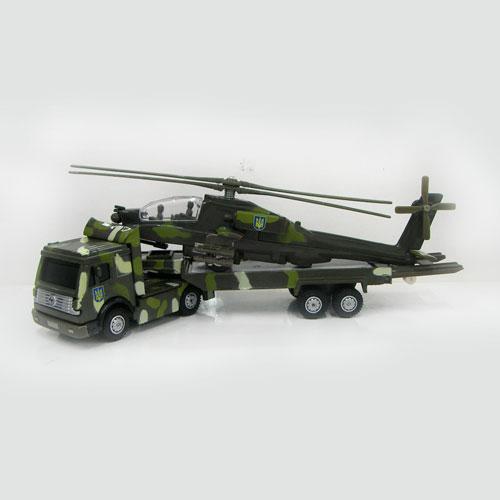 Игровой набор - ВООРУЖЕННЫЕ СИЛЫ (тягач + вертолет)