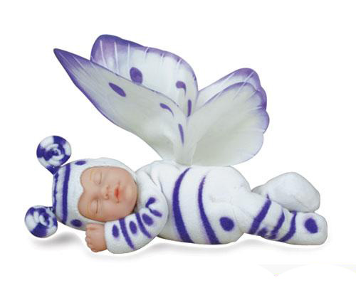 Кукла-бабочка (бело-лиловая) 23 см