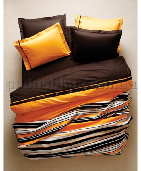 Постельное белье с пледом Karaca Solid Thin оранжевый