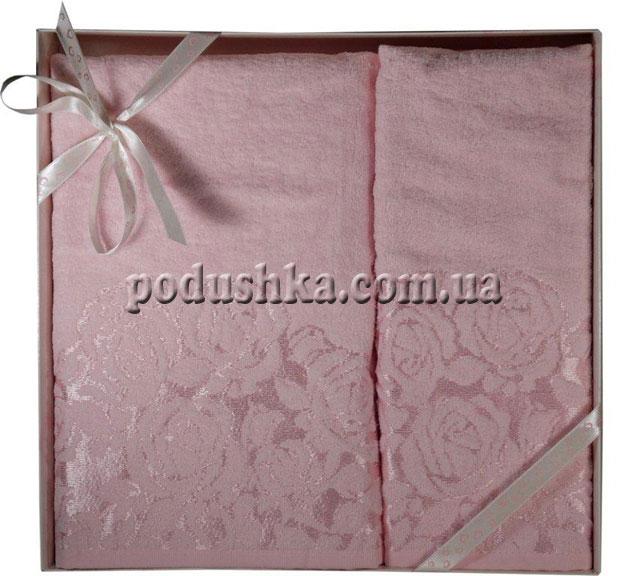 Набор махровых полотенец ROSE(GULLU) PINK (2шт), Pavia