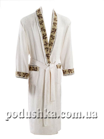 Халат унисекс длинный кимоно, Mariposa S/M темно-зеленый, кант - классик Mariposa