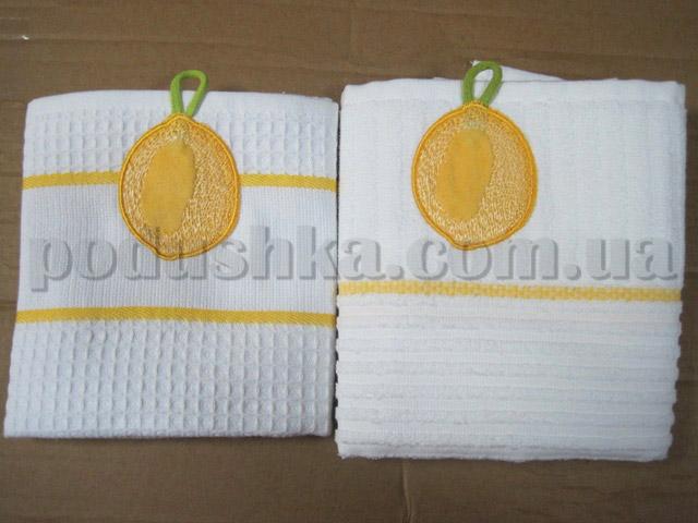 Набор кухонных полотенец Mariposa Лимон (вафельное и махровое)