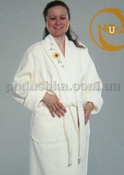 Халат женский Nusa NS-11080 короткий с капюшоном