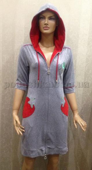 Халат женский короткий с капюшоном Nusa NS-00560