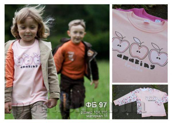 Футболка для девочек с рисунком Бемби ФБ97 интерлок