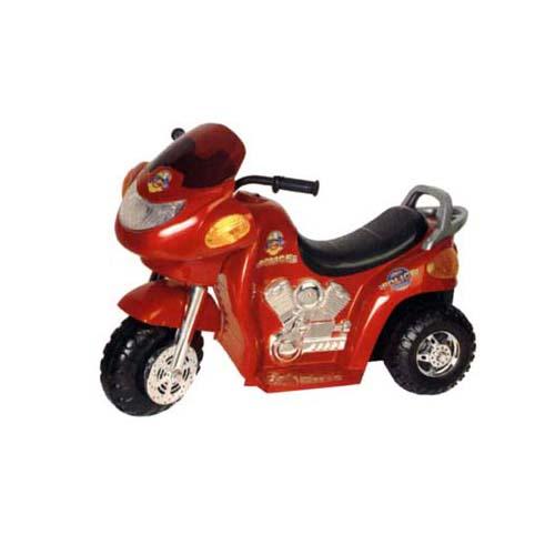 Мотоцикл - POLICE (двигатель 1х6 В, скорость 2 км/ч, грузопод. 30 кг, красный)