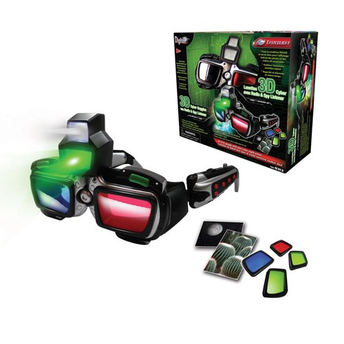 3D кибер-очки ночного видения HT с радио и подслушивающее устройство