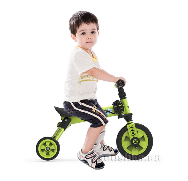 Складной трехколесный велосипед (2в1) TCV 36773 зеленый   TCV