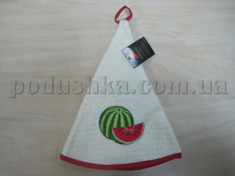 Полотенце махровое кухонное круглое Mariposa Арбуз крем