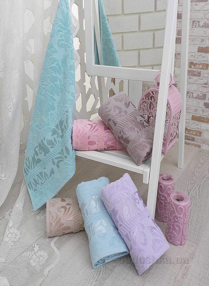 Полотенце махровое Hobby Versal серо-лиловое 50х90 см  Hobby