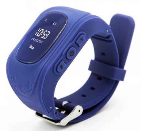 Детские телефон-часы с GPS трекером GoGPS me K50 Темно синие K50DBL