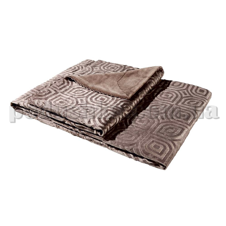 Плед Bocasa Estelle серо-коричневый 607942
