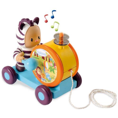 Музыкальная игрушка-каталка барабан Cotoons