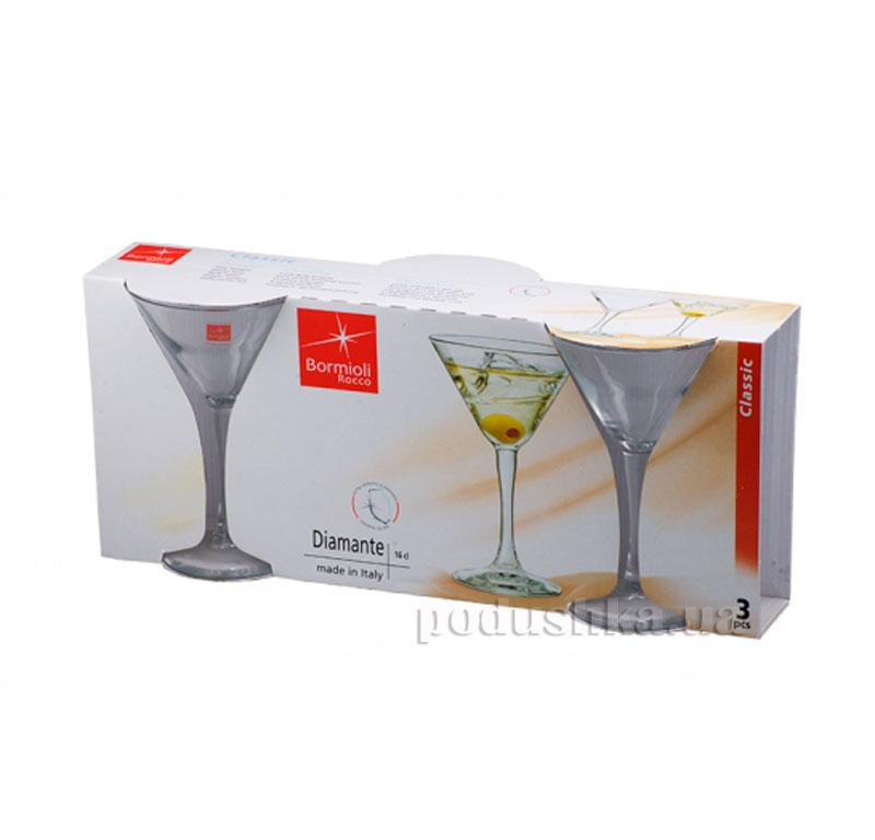 Набор бокалов для коктейля Diamante 160 мл   Bormioli