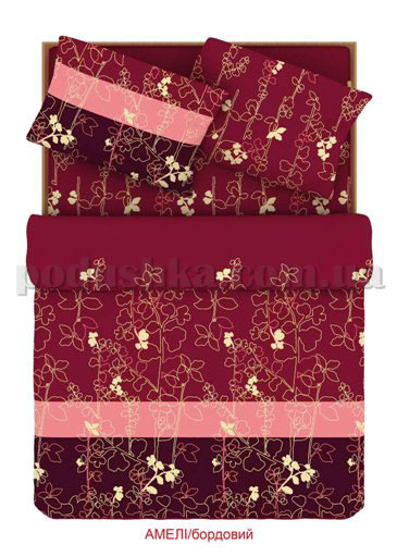 Постельное белье Home line Амели бордовый