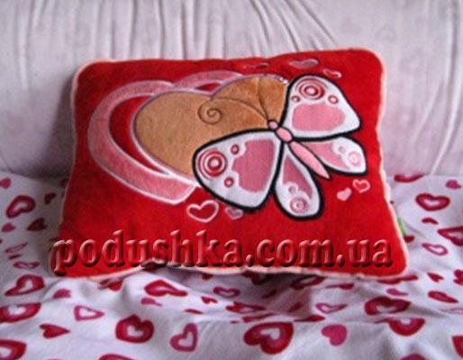 Подушка с бабочкой