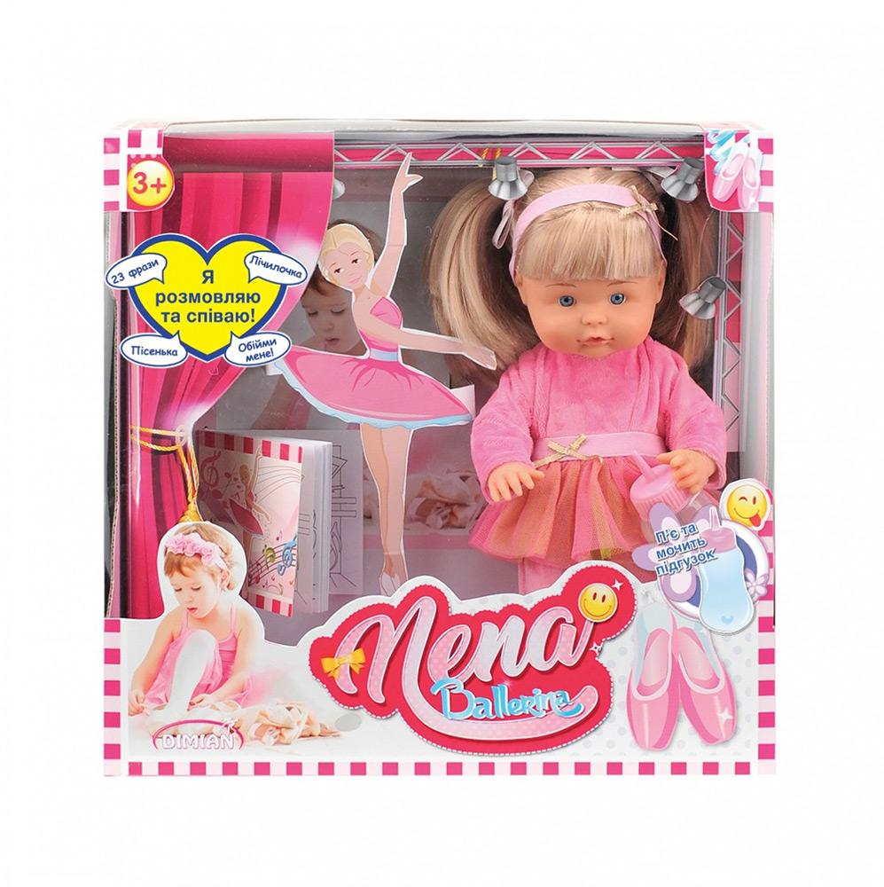 Говорящая кукла Bambolina NENA — маленькая балерина (укр яз 36 см пьет мочит подгуз с аксеc) Bambolina BD380-50SUA
