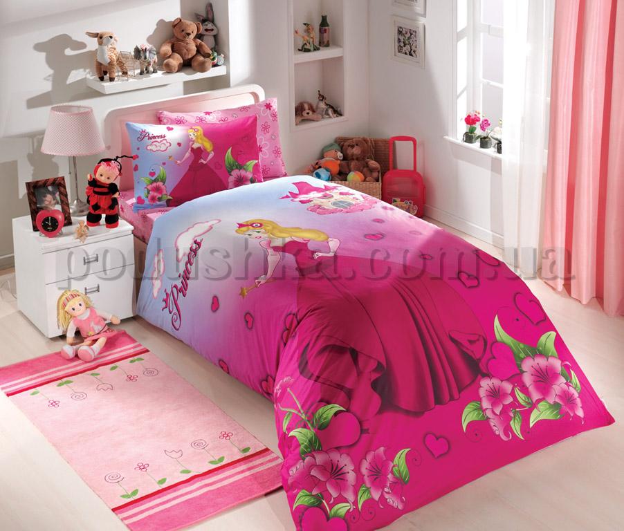 Постельное белье Hobby Prenses розовый сатин