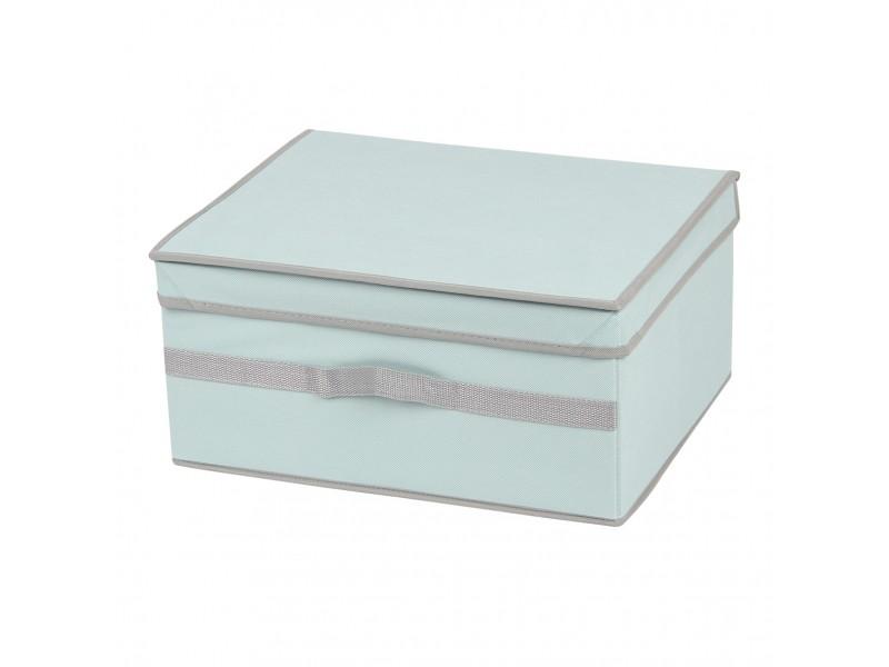 Коробка для хранения вещей с крышкой МД 40х33х19 см UC10191 голубая