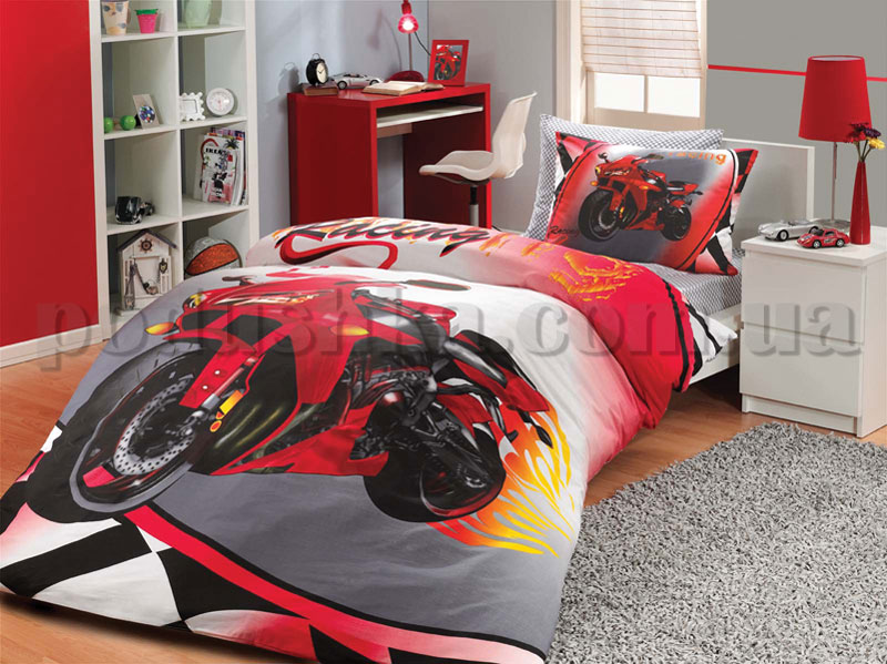 Постельное белье Hobby Moto Racing красный