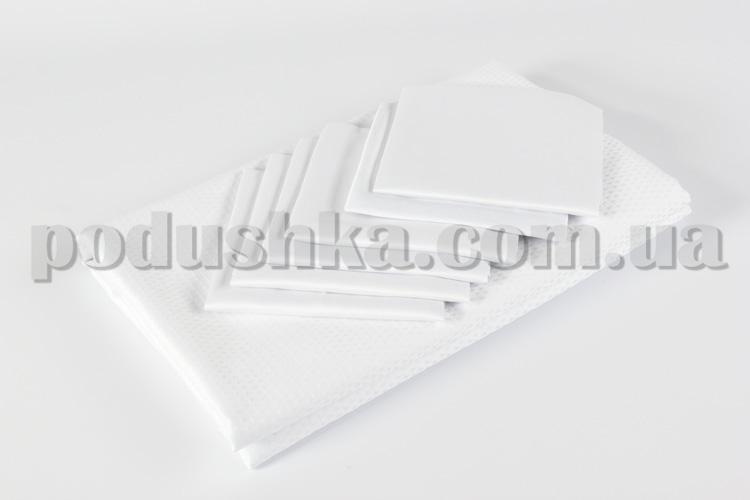 Набор с салфетками Люкс белый