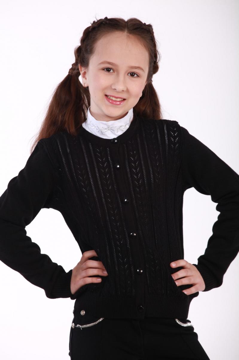 Жакет для девочки ОТМ Дизайн 5220 ажурный черный купить в Киеве ... 5f516ead599c1