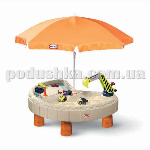 Песочница-стол - ВЕСЕЛАЯ СТРОЙКА (для песка и воды, с аксессуарами, 136 х 113 х 55 см)
