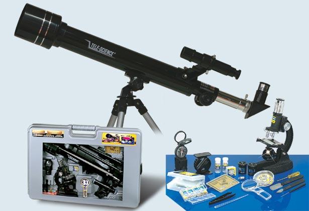 Телескоп 30х40х60см и микроскоп 100х1000см, Eastcolight