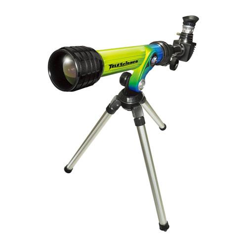 Телескоп с штативом зелено-синего цвета