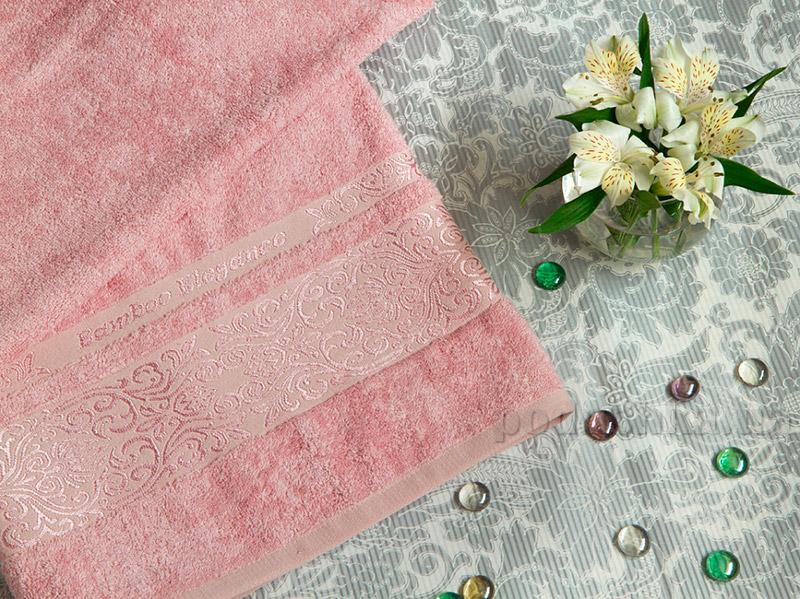 Набор махровых полотенец TAC Bamboo Elegance чайная роза