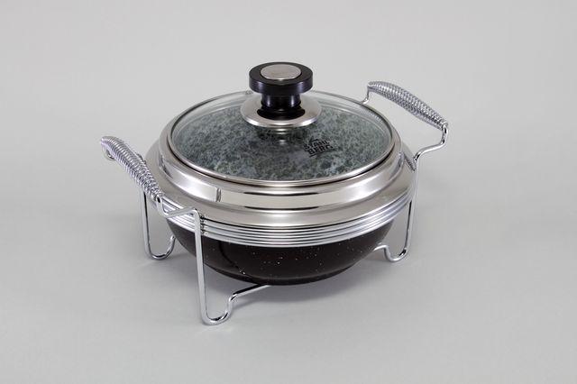 Круглый мармит ( нерж. сталь) 5763-S