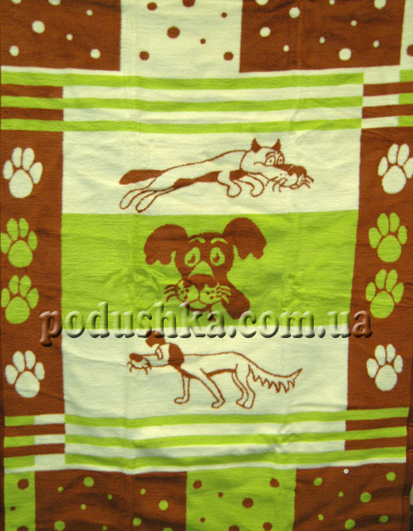 "Детский плед ""Зелёный пёс"", Sesli"
