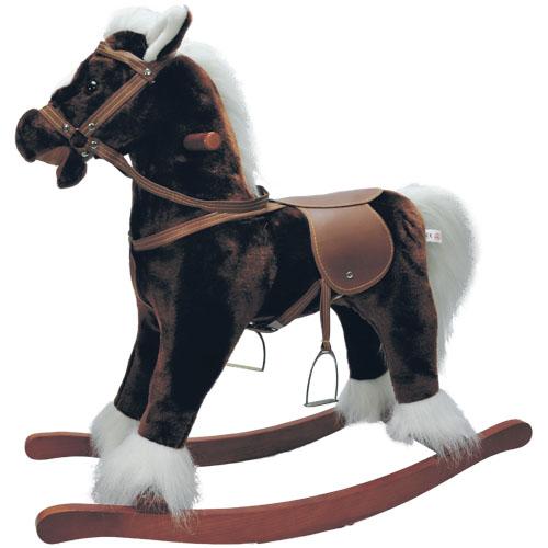 Качалка - Моя Лошадка (коричневая с белой гривой, 64 см)
