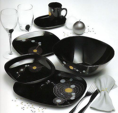 Сервиз столовый Luminarc SEQUINS BLACK 19 предметов