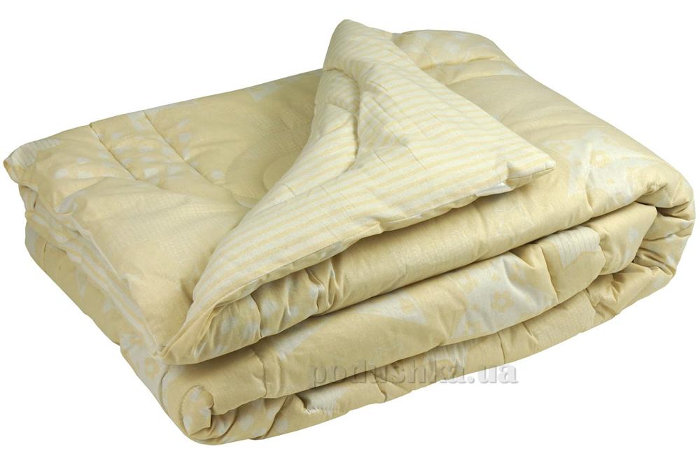 Одеяло зимнее шерстяное в бязи Руно Beige star