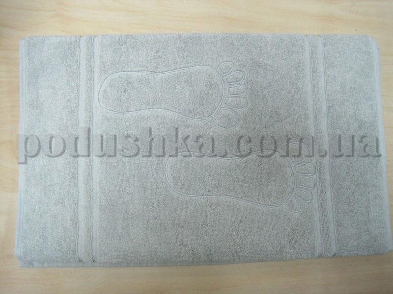 Коврик махровый для ванной Mariposa серый 50х95 см