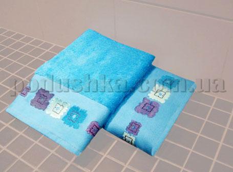 Полотенце махровое с вышивкой Унисон Gerber бирюзовый