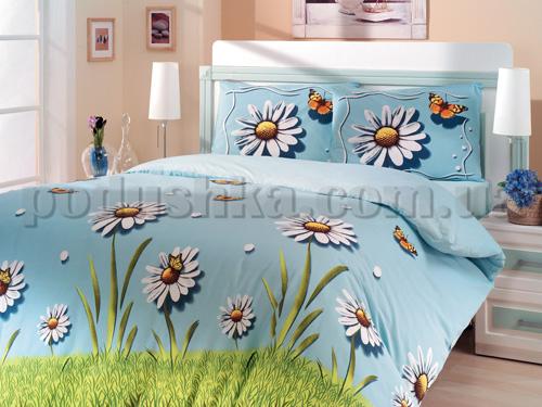 Постельное белье Altinbasak Eleganza Daisy mavi