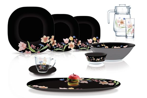 Сервиз столовый Luminarc Carine Minuet Black 46 предметов N8126 черный