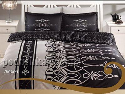 Постельное белье Аlmina (черный)