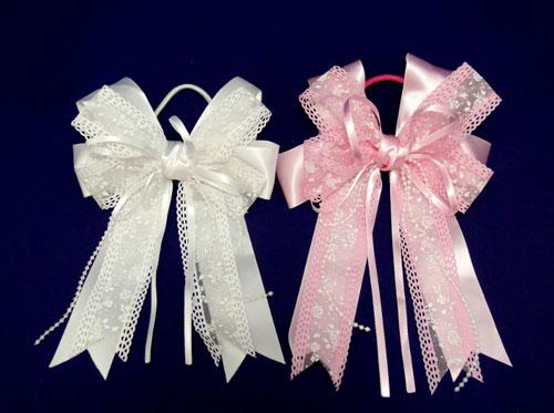 Бантики белые для девочек своими руками