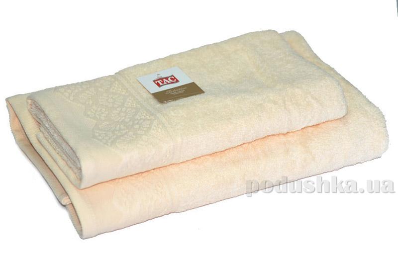 Набор махровых полотенец TAC Safran молочных