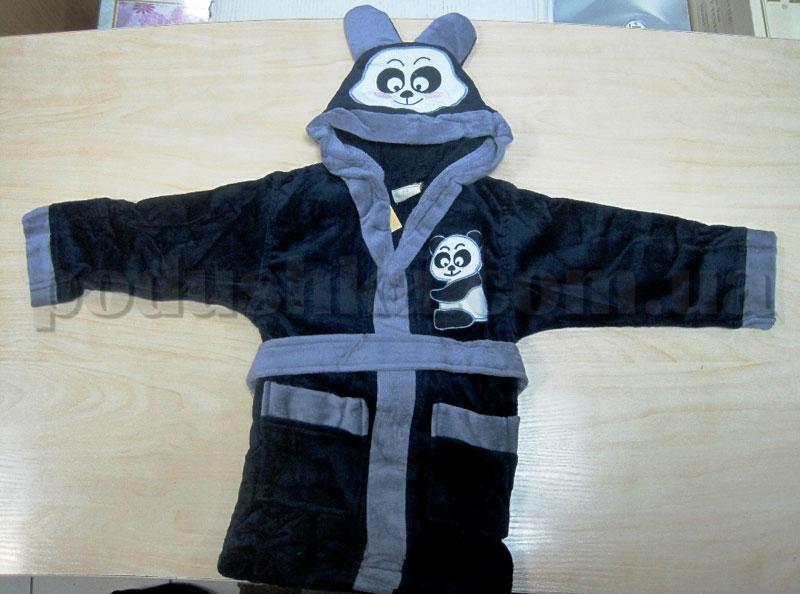 Халат детский Nusa темно-синий