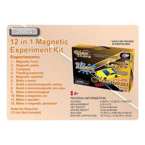 Набор 12в1 для экспериментов с магнитами