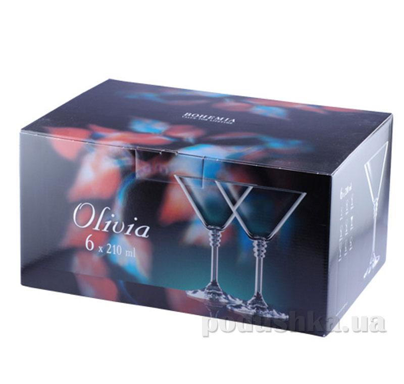 Набор бокалов для мартини Bohemia Оливия 210 мл 6 шт. 40346/210   Bohemia